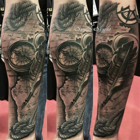nautical sleeve tattoo designs samuel sancho tattoos tatoo and
