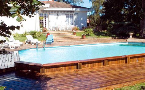 perfect semi inground pool ideas   home owners