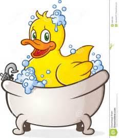 Bath Toy Faucet Rubber Duck Bubble Bath Cartoon Character Royalty Free
