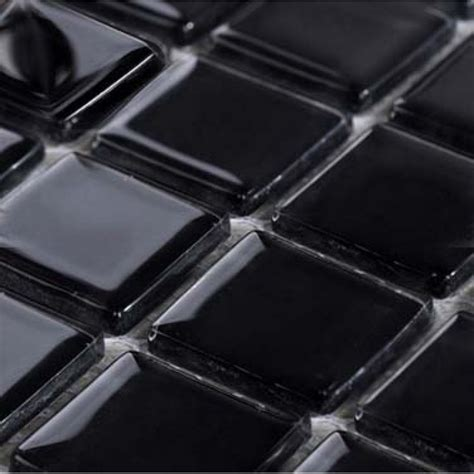 Glass Subway Tile Kitchen Backsplash Wholesale Glass Mosaic For Swimming Pool Tile Sheet Black