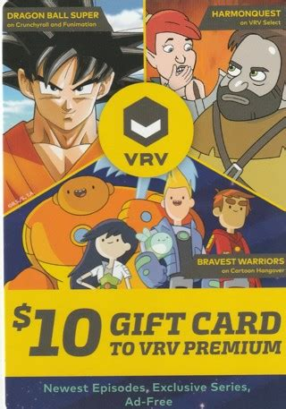 Vrv Gift Card - free 10 gift card to vrv premium gift cards listia com auctions for free stuff