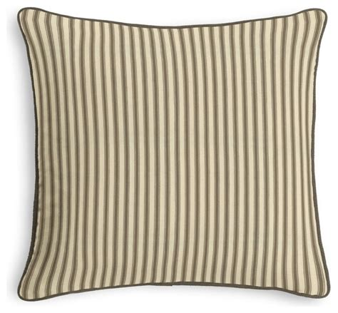 Ticking Stripe Pillow by Taupe Ticking Stripe Corded Throw Pillow Traditional