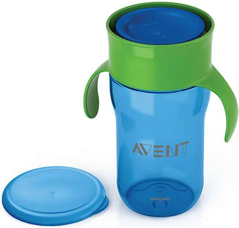 Philips Avent 360 Grown Up Cup 12m 260ml Non Spill Anti Tumpah Bocor 63 philips avent grown up cup in blue from 12 m with 340 ml