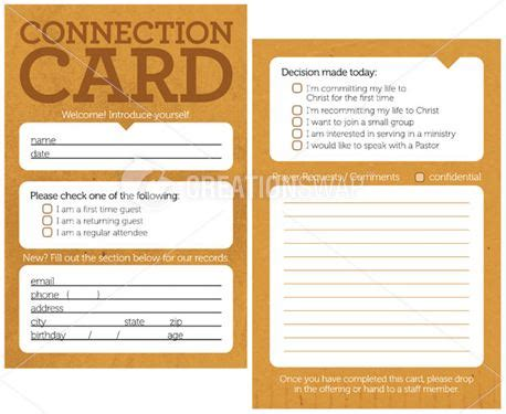 church connection card template vector media connection cards creationswap