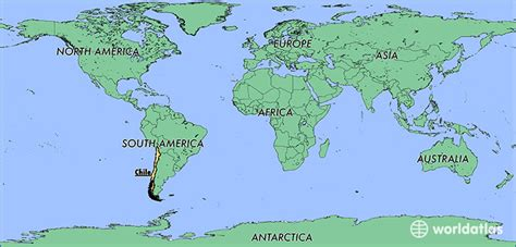 santiago chile on world map where is chile where is chile located in the world