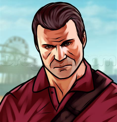 how to in gta 5 how to draw michael from gta 5 michael de santa step by step characters