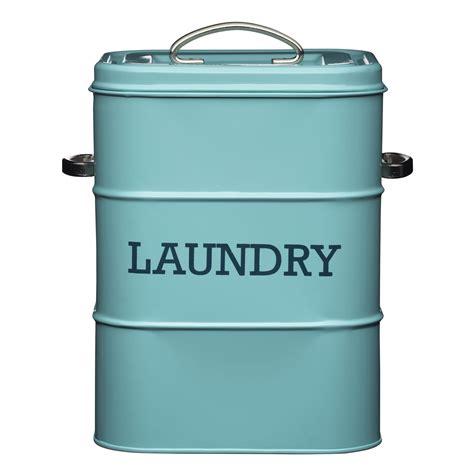 laundry storage containers living nostalgia vintage blue laundry tin storage