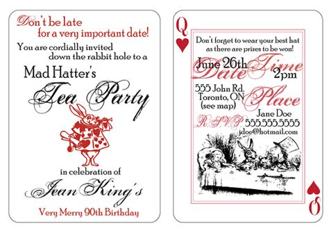 mad hatter tea invitations these invitations were ma flickr