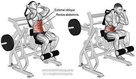 machine leg raise crunch instructions  video weight