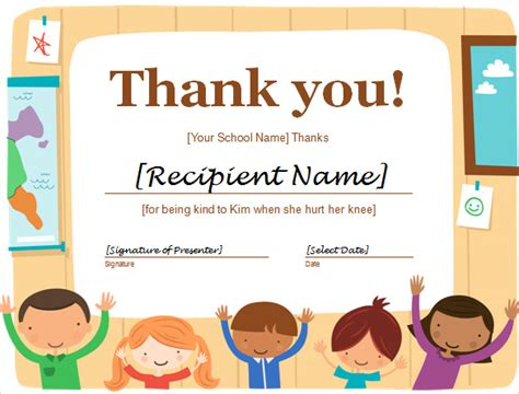 thank you certificate templates free word certificate template 44 free sles
