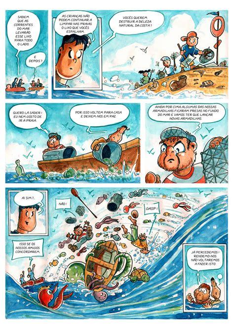 b d banda desenhada vamos salvar o oceano comics for kids