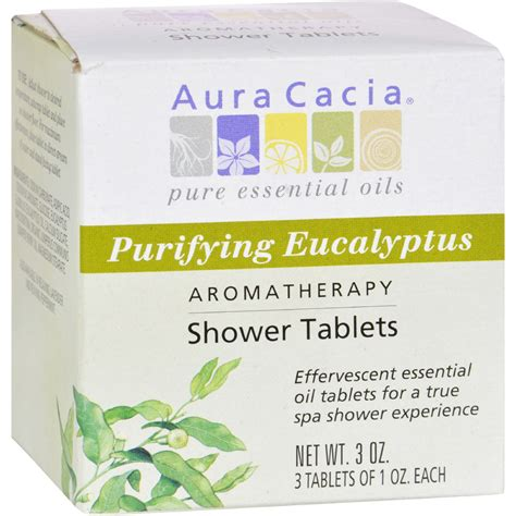 Eucalyptus Shower Tablets by Aura Cacia Purifying Aromatherapy Shower Tablets