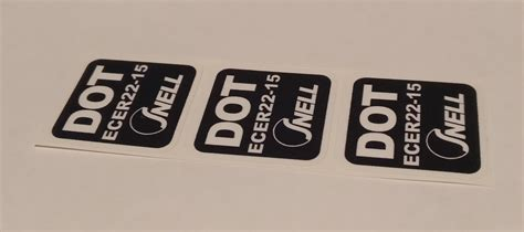 Ece Aufkleber Helm by 3 X Dot Ece 2215 Snell Sticker Aufkleber Etikett Etichetta