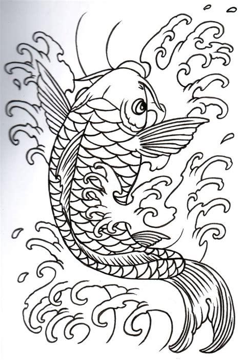 koi fish tattoo stencil simple koi fish tattoo design texture art pinterest