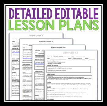 englis lesson plan on hair products emergency lesson plans middle and high english by presto