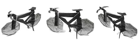 Origami Bike - this week in origami 3d tessellation edition