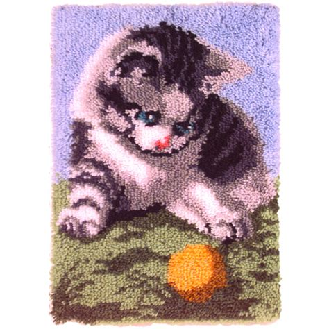 Playful Kitten Latch Hook Kit Caron Latch Hook Rug Kits Latch Hook Rug Kits For