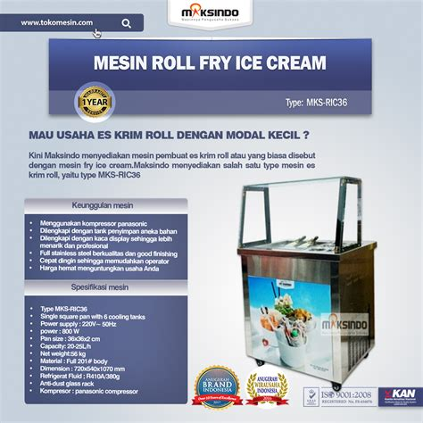 Mesin Roll mesin roll fry ric36 toko mesin maksindo