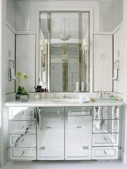 Mirrored Bathroom | dream home design interior bathroom mirror cabinets