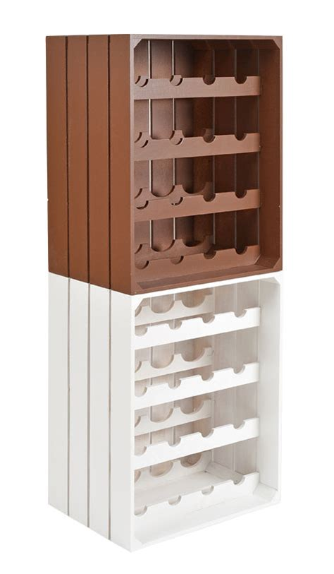 16 bottle wine rack holder shelf vinrack white cabinet
