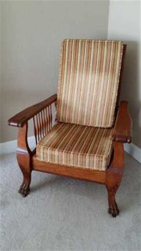 morris reclining chair 1900 antique carved oak