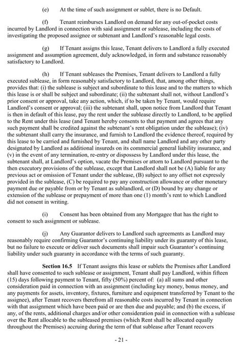 retail lease agreement template retail lease agreement for free page 23
