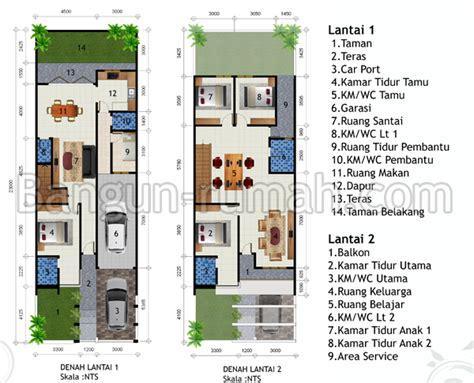 desain rumah 2 lantai di lahan 7 5 m x 23 m studio desain rumah jakarta
