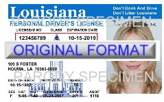 louisiana id template louisiana id template