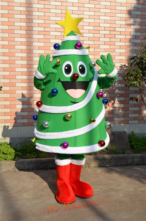 christmas tree mascot costume halloween christmas party