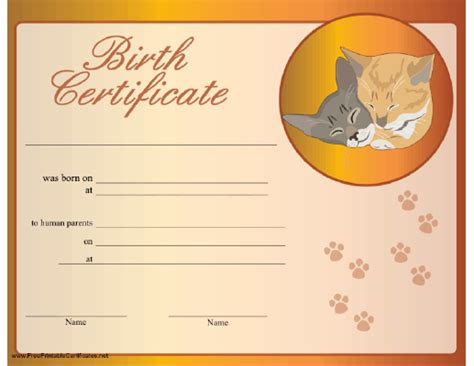 free printable birth certificates