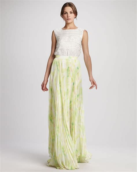 vera crochet crop top shannon floral maxi skirt