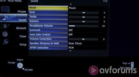 Tv Panasonic A400 panasonic tx 50a400 a400 tv review avforums