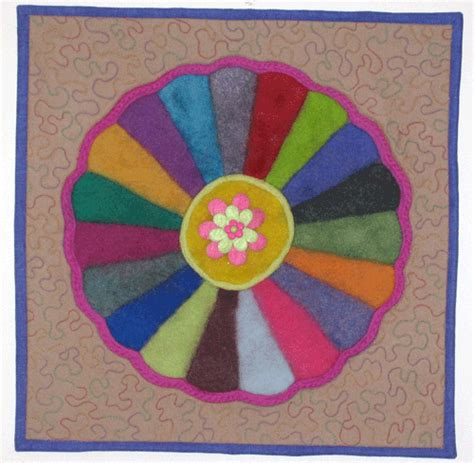 Felt Quilts by Felted Quilt Squares Living Felt