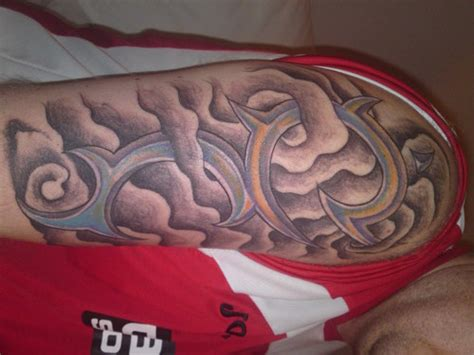tribal tattoo with clouds tattoo art gallery