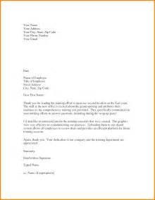 Letter Appreciation Employees Template employee recognition form template template