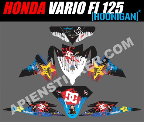 Sticker Decal Striping Dekal Stiker Klx 149 Glossy striping motor vario fi 125 hoonigan car apien sticker