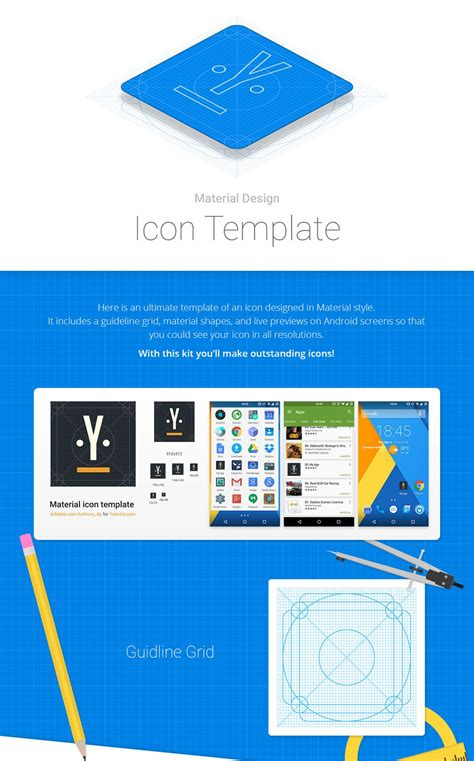 Android Material Design Icon Template For Google Play Freebiesui Android Flat Design Template