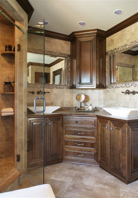 double sink corner vanity corner vanity vessel sinks eclectic bathroom newark