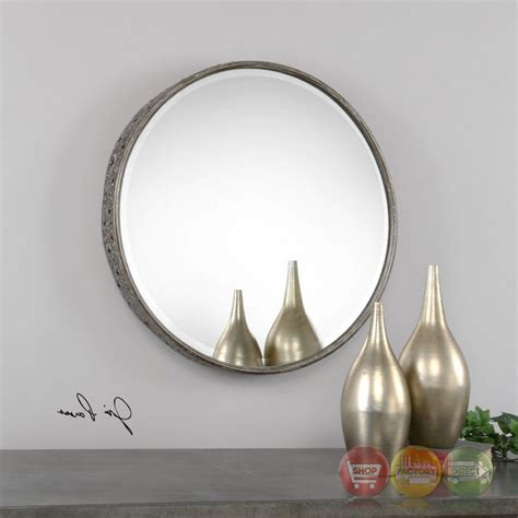 24x24 mirror chunky mirror with decorative hammered metal