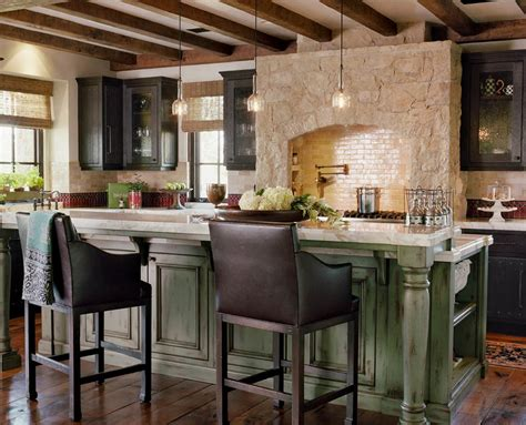 decorating a kitchen island rustic interior design brings atmosphere to your home