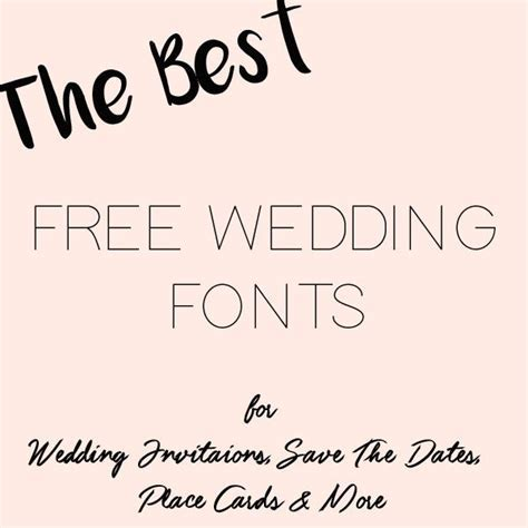The Best Free Fonts For Wedding Invitations, Place Cards