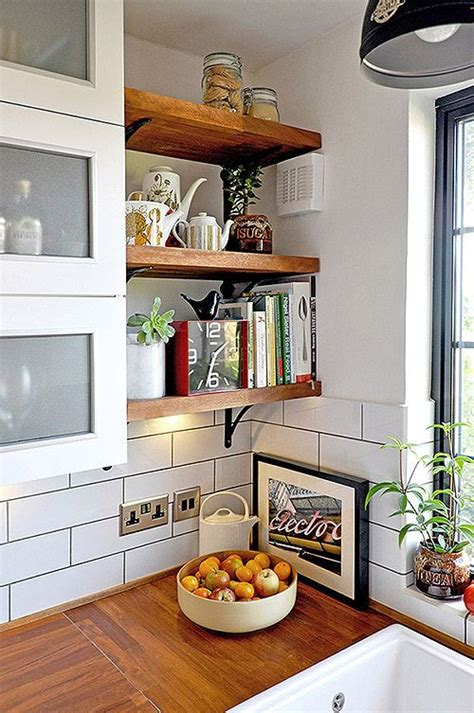 picture of rustic open shelves