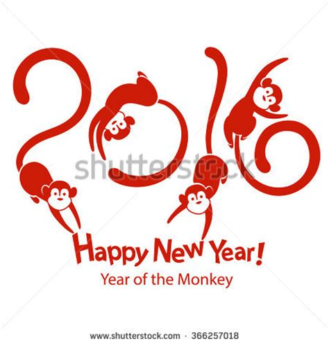 new year 2016 year of the monkey symbol the symbol of the year 2016 a monkey china new