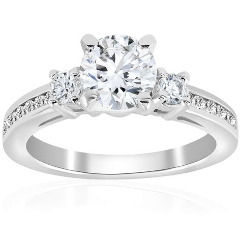 Cut Engagement Rings Gold Jewelry by 1 Ct Cut Solitaire 3 Engagement Ring