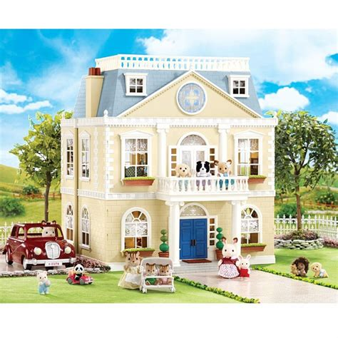 calico critters house calico critters cloverleaf manor super deluxe play house educational toys planet