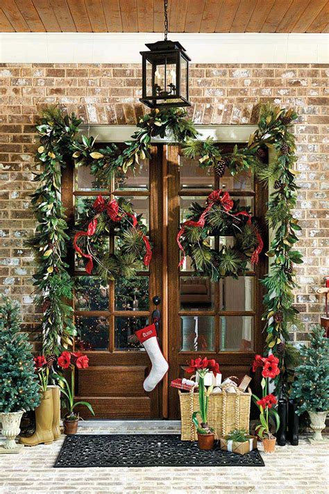 christmas entrance decoration front door decorations corner