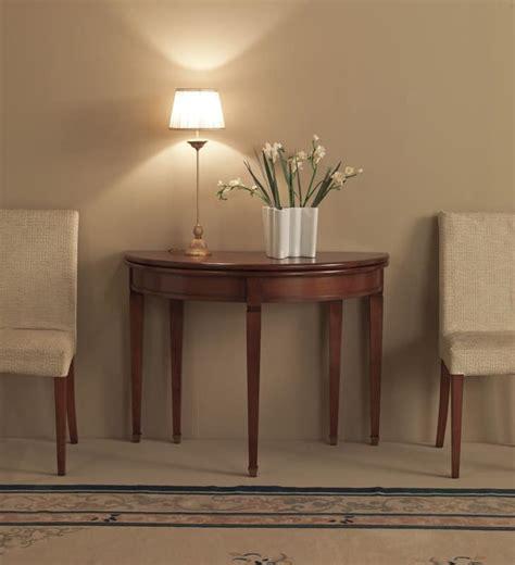 arredo ingresso classico consolle allungabile in legno massello made in italy