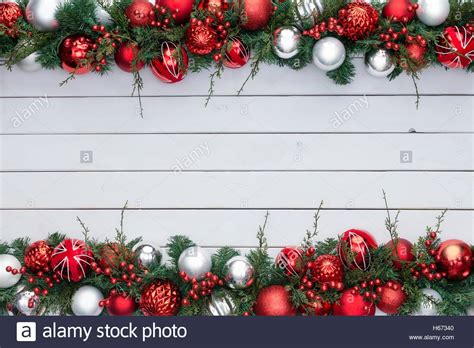 red  white colorful festive double xmas border   assortment stock photo royalty