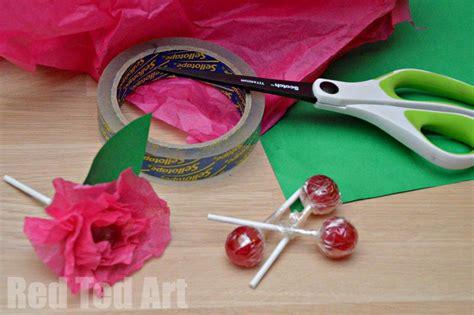 lollipop craft tissue paper flower lollipops ted s