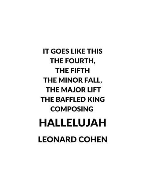 hallelujah leonard cohen testo best 25 leonard cohen hallelujah chords ideas on